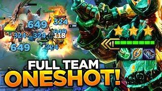 AP GANGPLANK BARRELS ONESHOT HIS ENTIRE TEAM?! | Teamfight Tactics