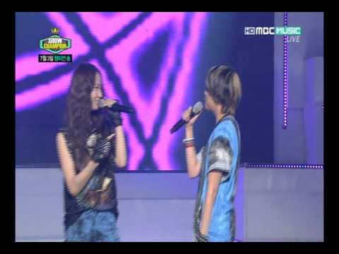 120703 f(x) Amber Shouting/Rapping Her Part