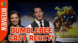 BumbleBee Cast React To Funny Kid Questions!