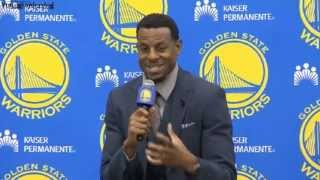 Golden State Warriors Introduce Andre Igoudala [HD]