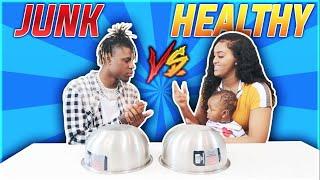 HEALTHY VS JUNK FOOD CHALLENGE!!!