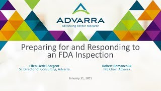 Preparing for and Responding to an FDA Inspection