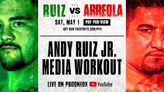 ANDY RUIZ JR. MEDIA WORKOUT  🚨 | PBC ON FOX