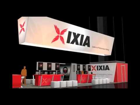 IXIA 20 x 30 Blazer Exhibits Custom Rental Exhibit