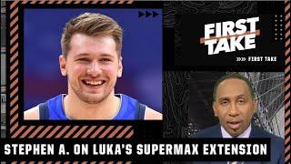 Stephen A. reacts to Luka agreeing to a 5-year/$207M supermax extension with the Mavs | First Take