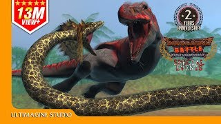 Titanoboa VS T-Rex : Dinosaurs Battle Special