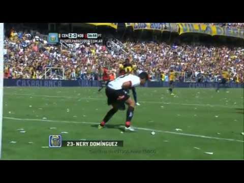 Gol de Domínguez. Central 2 - Newell's 0. Fecha 12. Torneo Primera División 2014. FPT