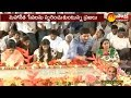 YS Jagan Family at Idupulapaya on YSR 9th death anniversary