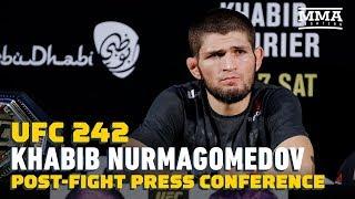 UFC 242: Khabib Nurmagomedov Post-Fight Press Conference - MMA Fighting