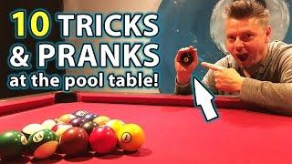 TOP 10 Pool TRICK Shots and PRANKS!!