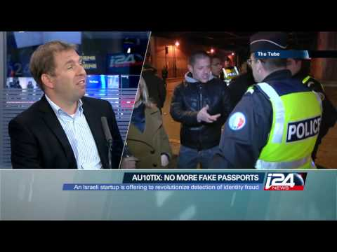 AU10TIX MD Ron Atzmon interviewed on I24 channel