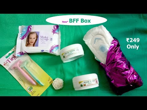*New BFF Box | From Super Saver Bag | March 2018 | Honest Review | Giveaway | SahiJeeth