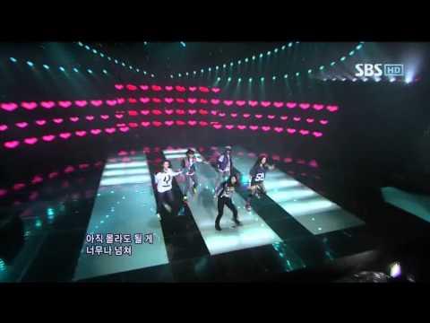 F(x) - chu~♡ (에프엑스 - 츄) @ SBS Inkigayo 인기가요 100103