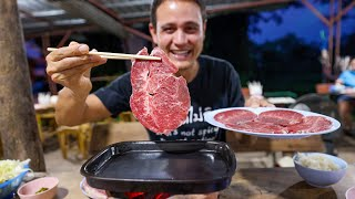 Eating the KOBE BEEF of Thailand - Is It That Good?? 🥩 Street Food Steakhouse!