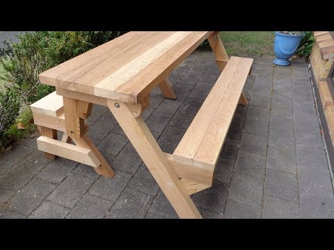 How To Build A Cheap Wood Picnic Table - A Complete Guide From Start ...