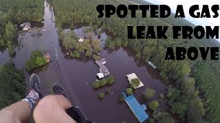 Flying Paramotor Above Hurricane Florence Floodwaters 18SEP2018 Fayetteville, NC