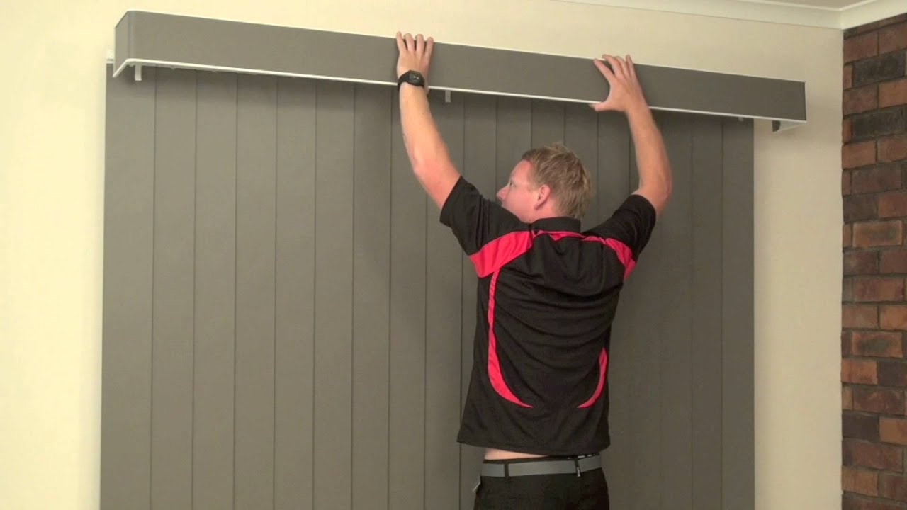 How To Install A Face Fit Pelmet On A Vertical Blind Youtube