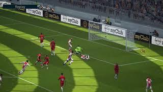 Ronaldo Bicycle Kick Goal......against best goalkeeper of Pes, Donnarumma,94 rated GK