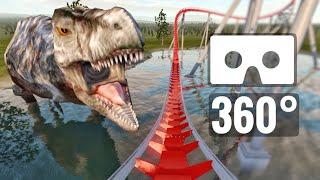 Jurassic Park Dinosaurs T-Rex 360 video Roller Coaster Lost World PSVR