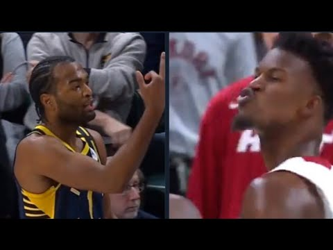 Jimmy Butler blew TJ Warren a kiss after Warren was ejected