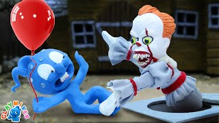 Tiny Ain't Scared of CLOWN - False Action Stop Motion Animation Cartoons