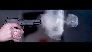 Pistol Shot Recorded at 73,000 Frames Per Second