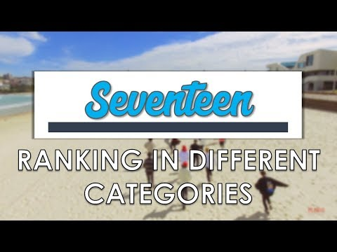SEVENTEEN RANKING IN DIFFERENT CATEGORIES
