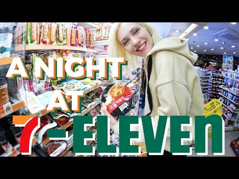 Midnight Feast at Korean 7-ELEVEN Convenience Store