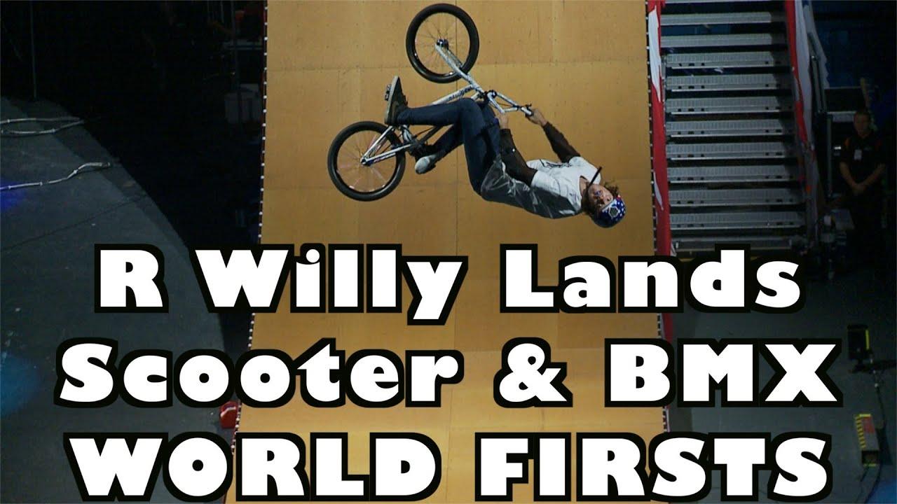 R-Willy fait un 720 Front flip en trottinette et en BMX