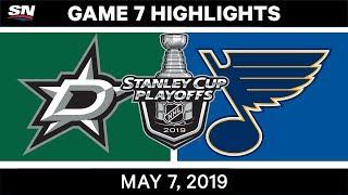 NHL Highlights | Stars vs. Blues, Game 7 – May 7, 2019