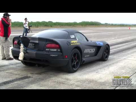 240mph ART twin turbo Viper - Texas Mile - March 2011