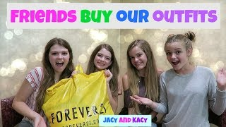 SISTERS VS SISTERS BUY EACH OTHER OUTFITS CHALLENGE ~ Jacy and Kacy