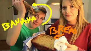 My Drunk Kitchen: BANANA BREAD! (ft. Grace Helbig!)