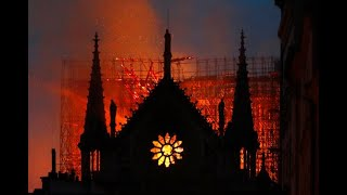 Live: Pictures of Paris's iconic Notre-Dame Cathedral on fire  | ITV News - YouTube