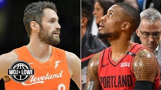 Kevin Love to the Blazers? What if the Clippers don't get Kawhi Leonard? | Woj & Lowe