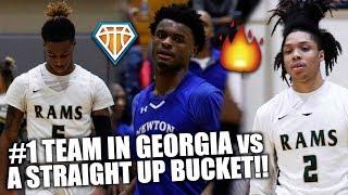 #1 TEAM IN GEORGIA vs TOUGH 2,000 POINT SCORING GUARD!!   Grayson vs Newton Highlights