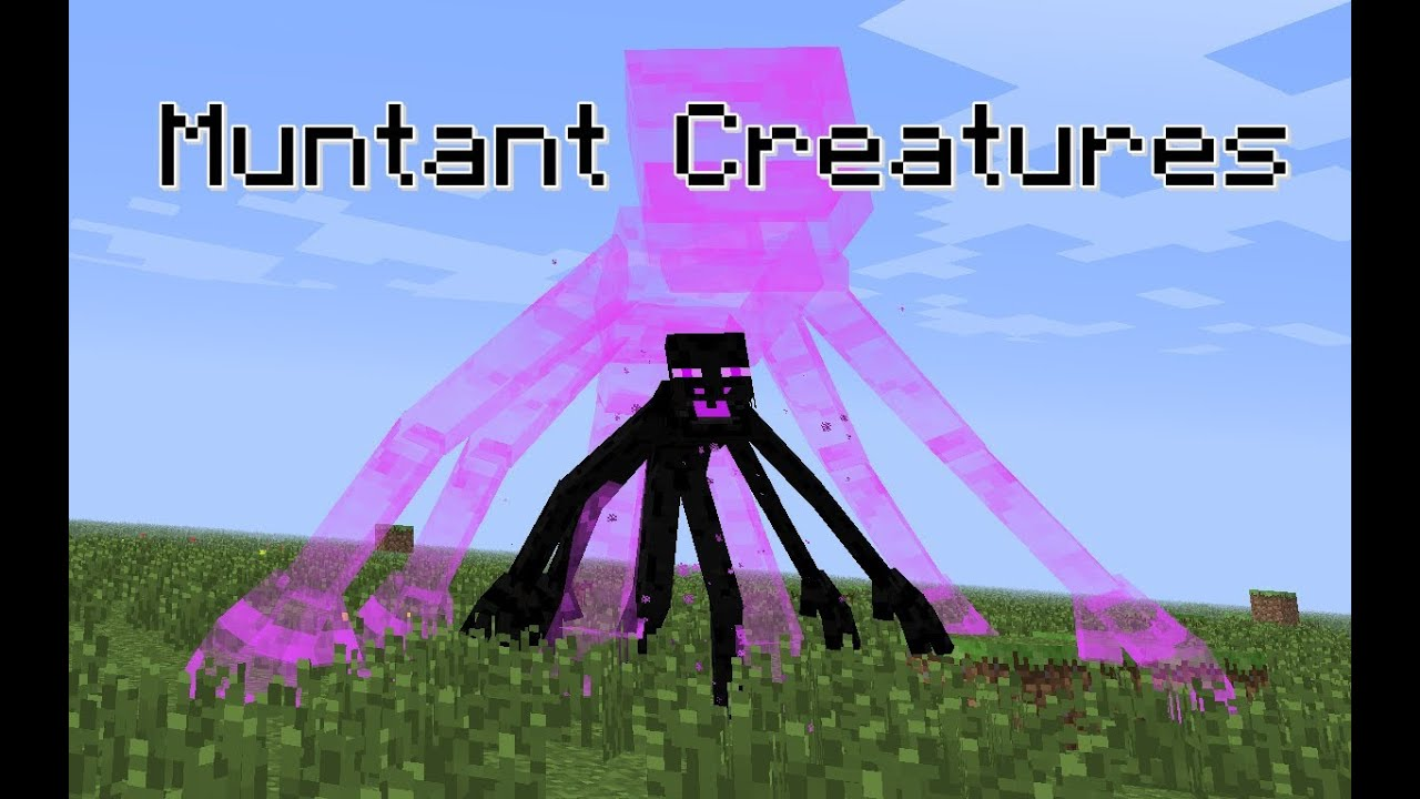 Minecraft Mod Mutant Creatures Enderman Mutante Youtube