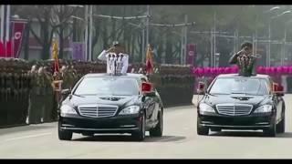 Ông Kim Jong Un dùng Mercedes S-Class Pullman chống đạn trong lễ duyệt binh