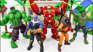 Power Rangers & Marvel Avengers Toys Pretend  Play   HULK TRANSFORM & HULKBUSTER vs KING KONG Army