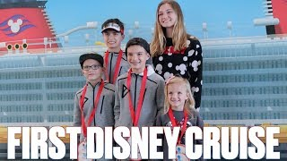 GETTING ON A DISNEY CRUISE SHIP FOR THE FIRST TIME | DISNEY DREAM CRUISE SHIP BALCONY ROOM TOUR