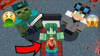 MC NAVEED HELPS MARIE FRIENDLY ZOMBIE FROM BACTERIA!! MARK FRIENDLY ZOMBIE SURVIVAL!! Minecraft Mods