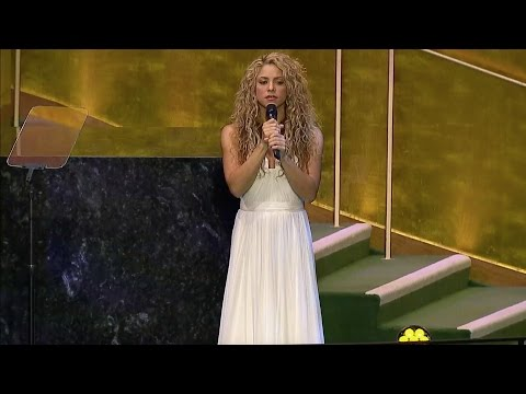 Shakira - Imagine (Live at the UN's General Assembly 2015)