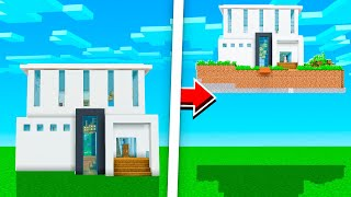 He Pranked Me.. So I Put His Minecraft House In The SKY!