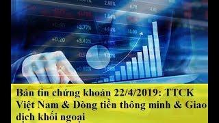 Bản tin chứng khoán 22/4/2019: TTCK Việt Nam & Dòng tiền thông minh & Giao dịch khối ngoại