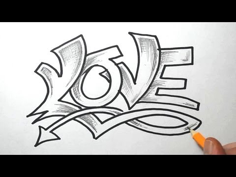 Cool Love Images to Draw How to Draw i Love You in Cool