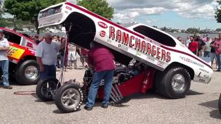 Nitro Funny cars fire up in St. Ignace 2017