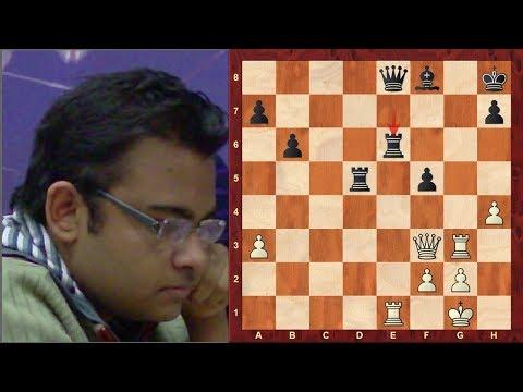 Amazing Chess Game: Abhijeet Gupta vs Vassily Ivanchuk : Tradewise Gibraltar (2018) : Queen's Indian