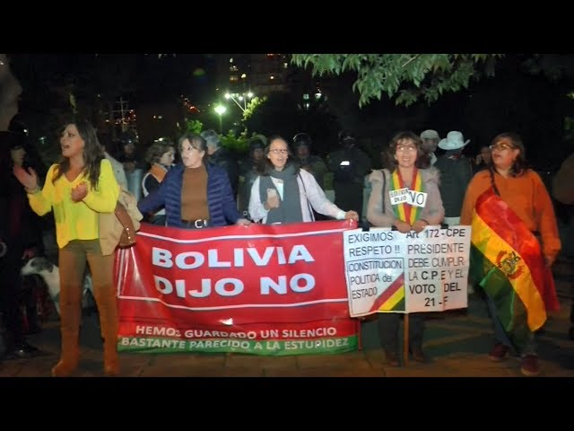 莫拉里斯擬競選第4任期 玻國民眾抗議