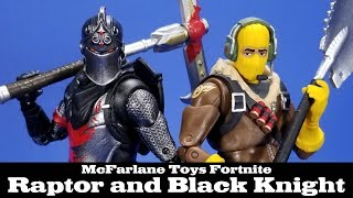 Fortnite Black Knight and Raptor McFarlane Toys Epic Games Action Figure Review