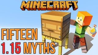 Minecraft 1.15 Fifteen Myths [Minecraft Myth Busting 124]